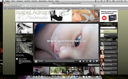 www.queenstreet.se Skärmdump www.lovebyisabel.com